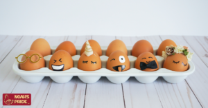 silly eggs in carton