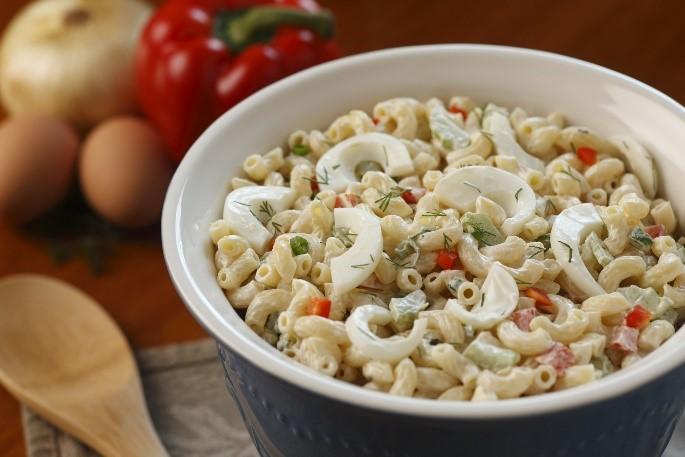 Macaroni egg salad