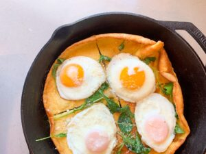 Dutch Pancake with Fried Eggs