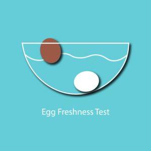 egg myth infographic - egg freshness test