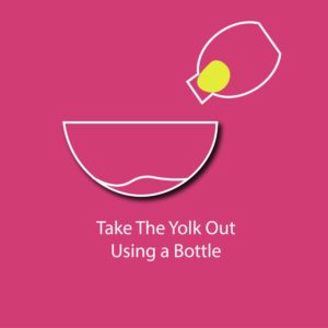 egg myth infographic - take the yolk out using a bottle