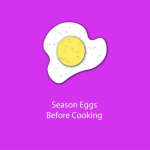 egg myth infographic - season eggs before cooking