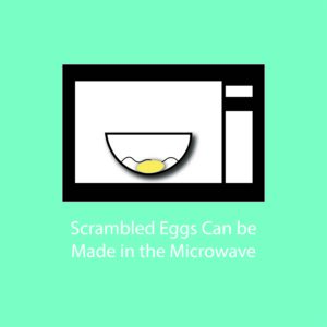 egg myth infographic - scrambled eggs can be made in the microwave