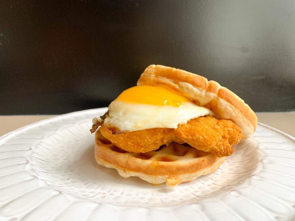 souther chicken waffle sandwich