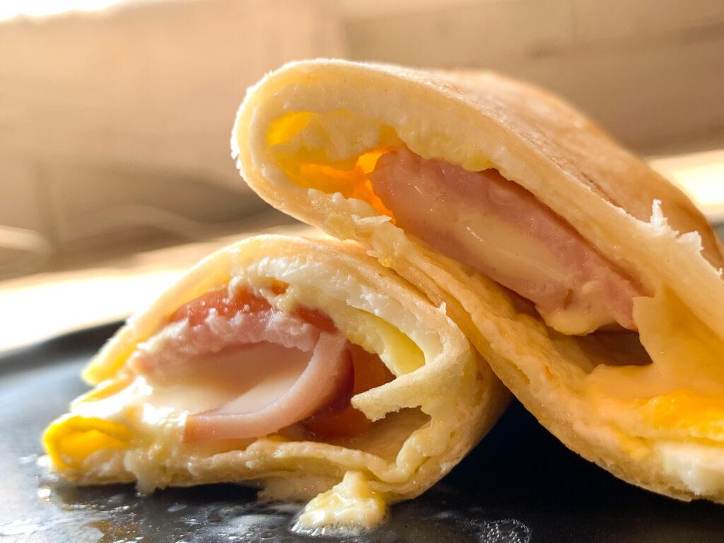 Dunkin Donuts Egg & Ham Wake up Wrap